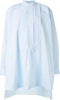 Hed Mayner Collarless Long-Length Shirt