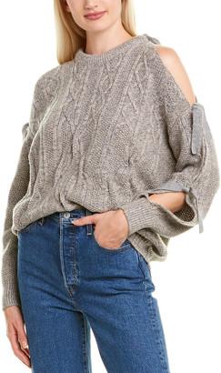 Naadam Cashmere Naadam Cold-Shoulder Wool & Cashmere-Blend Sweater