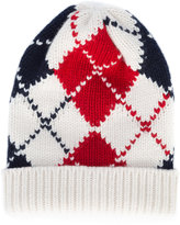 Thom Browne embroidered knitted beanie hat