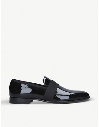 Magnanni Patent leather tuxedo loafer