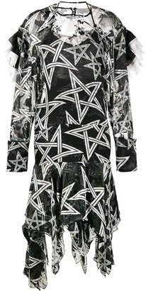 Preen by Thornton Bregazzi Alena star print asymmetric dress