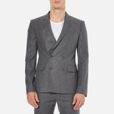 Carven Double Breasted Blazer Gris Chine