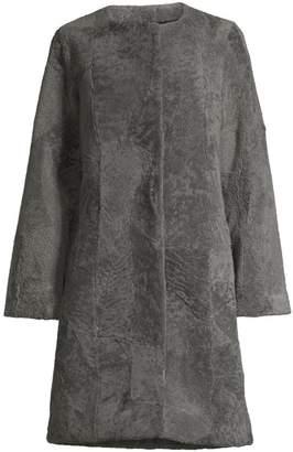 Pologeorgis Patchwork Shearling Coat