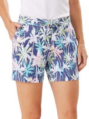 Tommy Bahama Palm-Print Linen Shorts