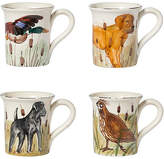Vietri Asst. of 4 Wildlife Mug Set - White