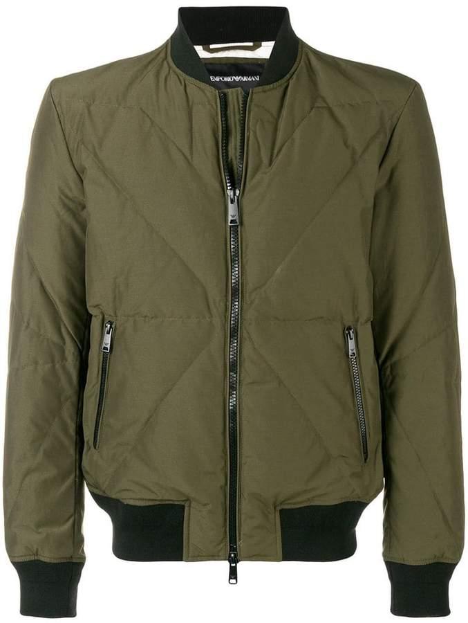 Emporio Armani feather down bomber jacket
