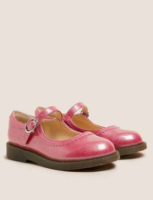 Marks and Spencer Kids' Freshfeet Sparkle Mary Jane Shoes (5 Small - 12 Small)