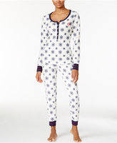 Tommy Hilfiger Thermal Henley Top and Pants Pajama Set
