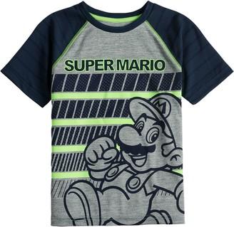 Boys 4-12 Jumping Beans Super Mario Active Raglan Tee