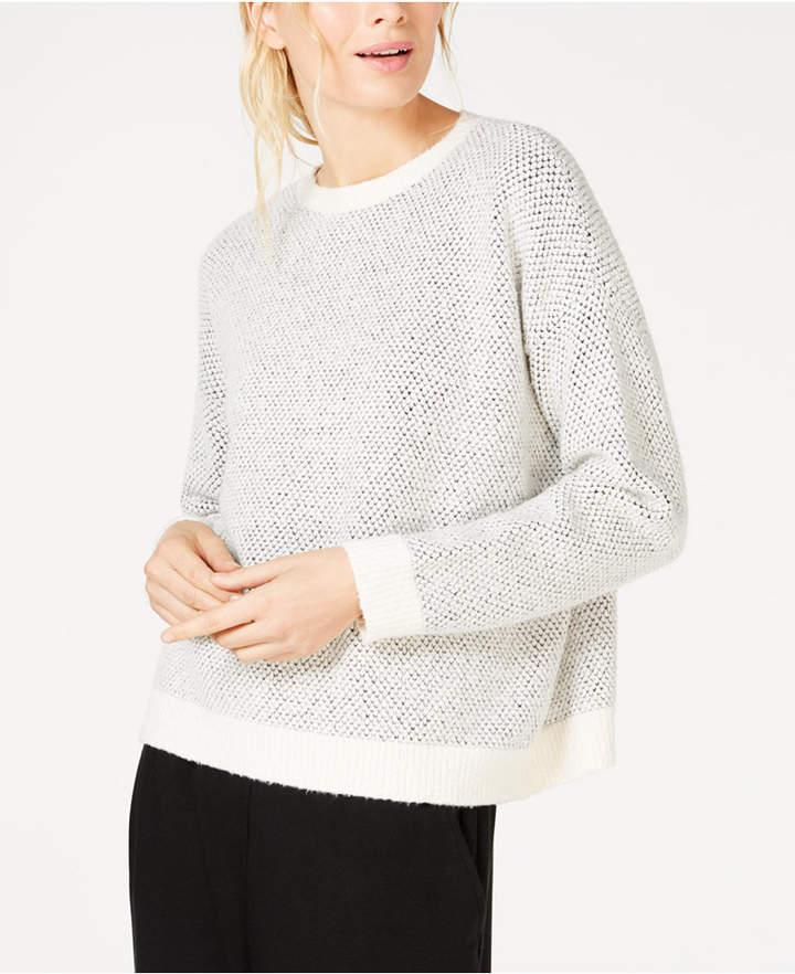 Eileen Fisher Organic Cotton Round-Neck Sweater