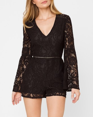Express Know Your Lace Bell Sleeve Romper