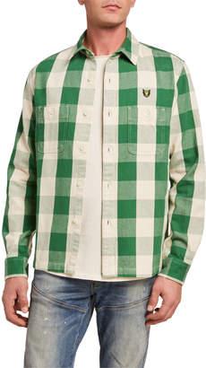 Buffalo David Bitton HUMAN MADE Men's Check Double-Pocket Sport Shirt