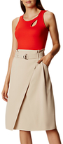 Karen Millen Paper Bag Skirt, Neutral