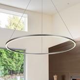 "Wade Logan Chifdale 1 - Light Unique / Statement Geometric LED Pendant Finish: Silver, Size: 119.5"" H x 51.25"" W x 51.25"" D"