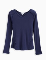 Splendid Girl Long Sleeve Thermal V Neck Top