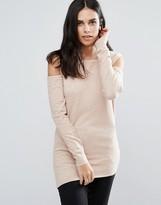 Fashion Union Cold Shoulder Jumper