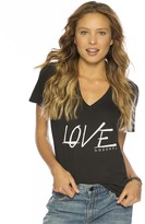 Peace Love World Love Happens Kim V-Neck Tee