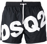 DSQUARED2 slanted logo swim shorts