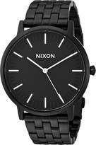 Nixon Men's 'Porter' Quartz Stainless Steel Watch, Color:Black