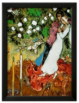 Art.com Three Candles by Marc Chagall