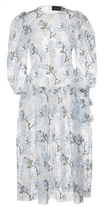 Simone Rocha Single Bite Printed Organza Dress