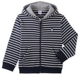 Petit Bateau Boys striped zippered sweatshirt