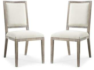 Tobias Upholstered Dining Chair Rosecliff Heights Upholstery Color: White