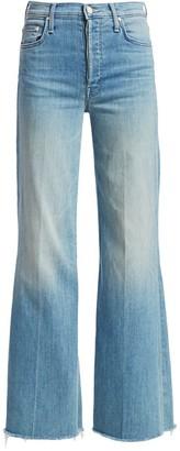 Mother The Tomcat Roller High-Rise Wide-Leg Fray Hem Jeans