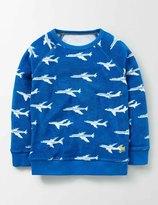 Towelling Sweatshirt Skipper Planes Boys Boden