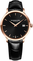 Raymond Weil Men's Swiss Toccata Black Leather Strap Watch 39mm 5488-PC5-20001