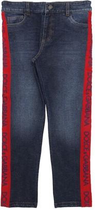 Dolce & Gabbana DENIM EFFECT COTTON PANTS