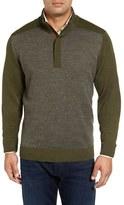 Bobby Jones Houndstooth Alpaca Quarter Zip Sweater