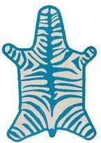 Jonathan Adler Turquoise Zebra Rug