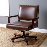 Abbyson Living Toronto Leather Office Chair in Brown