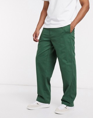 Obey marshall utility pants in green