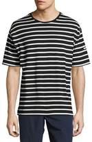 Burberry Totford Striped Cotton Oversized T-Shirt, Black/White