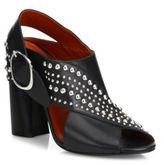 3.1 Phillip Lim Patsy Studded Crisscross Leather Block Heel Slingbacks