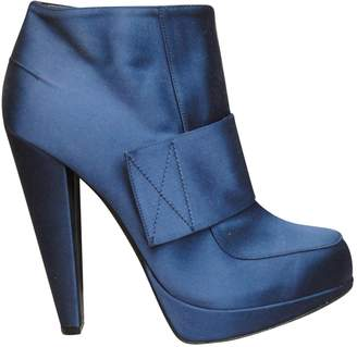 Lanvin Navy Leather Ankle boots