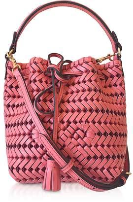 Anya Hindmarch The Neeson Calf Leather Drawstring Bucket Bag