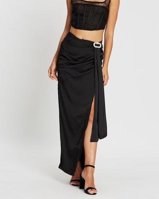 Missguided Drape Embellished Trim Maxi Skirt