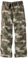 Sonoma life + style camouflage belted twill cargo pants - boys 4-7x
