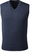 Classic Men's Big Performance Cotton Modal Sweater Vest-True Navy Heather