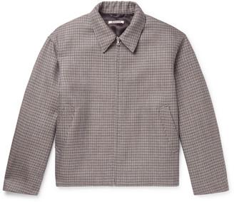 AURALEE Checked Wool Blouson Jacket