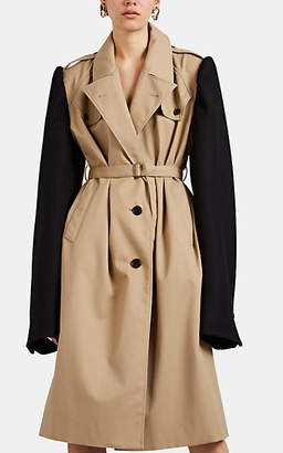 Maison Margiela Women's Deconstructed Twill Trench Coat - Beige, Tan