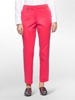 Calvin Klein Straight Fit Zip Detail Ankle Pants