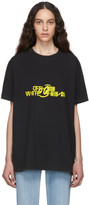 Off-White Off White Black and Yellow Halftone Over T-Shirt