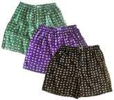 3 Pairs Underwear Sleep Wear Thai Silk Blend Boxer Shorts Elephants Design (SIZE : 31-33 Inches)