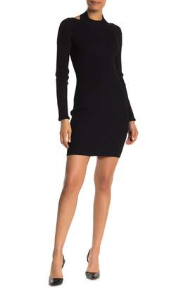 Helmut Lang Ribbed Knit Open Back Sweater Dress