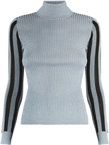 House of Holland High-neck metallic sweater