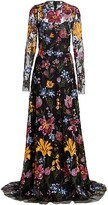 Thumbnail for your product : Naeem Khan Embroidered Floral Sequin Gown